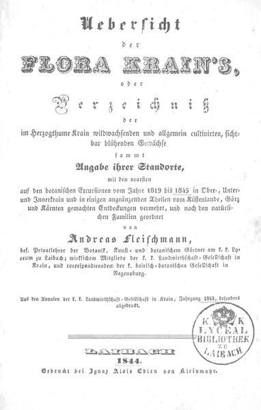 File:Andrej Fleischmann - Uebersicht der Flora Krain's.pdf