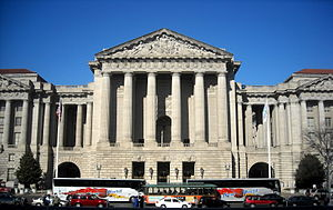 Andrew W. Mellon Auditorium - Facade of the Andrew W. Mellon Auditorium in 2009
