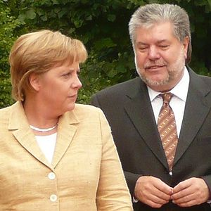 Kurt Beck - Merkel and Beck (2007)