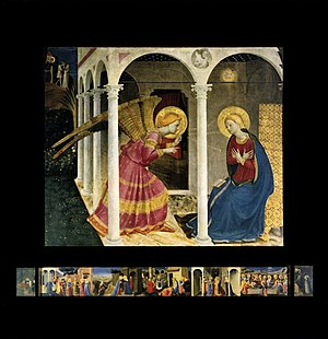 1430s in art - Image: Angelico Annunciation (Cortona)