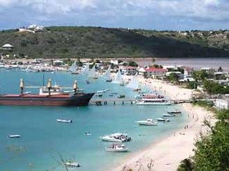 Sandy Ground, Anguilla - Image: Anguilla sandy ground overlook