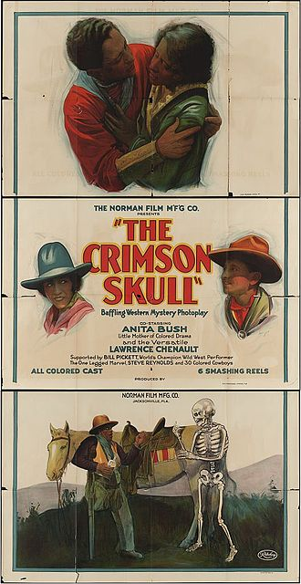Anita Bush - Poster for The Crimson Skull (1921) with Lawrence Chenault and Anita Bush