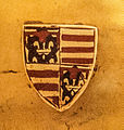 Anjou coat of arms on the globus cruciger of Hungary.jpg