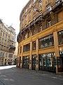 Anker House. Király Street (E) part. On left, Anker lane 2-4. Monument ID 12151 - Budapest 6th. district. Anker lane 1-3.JPG