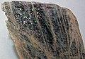 Anorthoclase feldspar with iridescent hematite inclusions (Potanikha Quarry, Kasli, Ural Mountains, Russia) 7 (29810807540).jpg