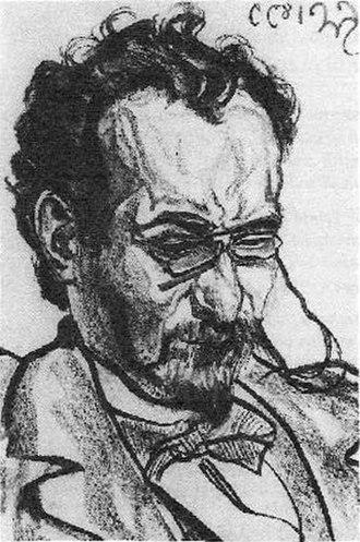 Antoni Lange - Portrait of Antoni Lange by Stanisław Wyspiański, 1899
