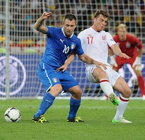 Antonio Cassano - Cassano (left) at UEFA Euro 2012.