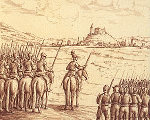 Friulian Revolt of 1511 - Antonio Savorgnan outside Udine, on February 27, 1511 (eighteenth century drawing).
