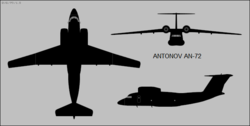Antonov An-72 Coaler-C three-view silhouette.png