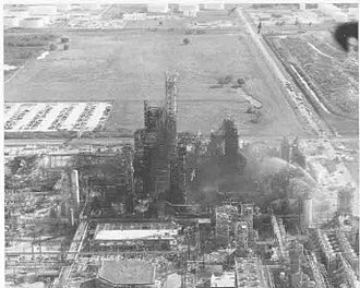 Phillips disaster of 1989 - Aerial photo of complex as seen from north to south.