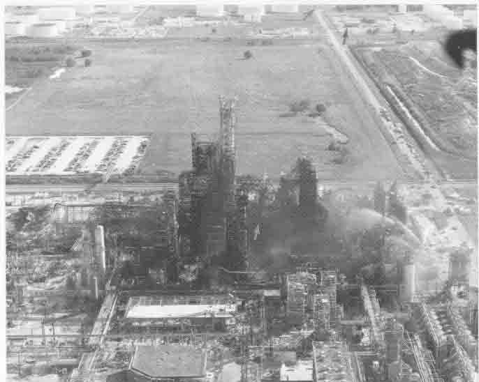 Apdx F2 - Aerial photo after explosion