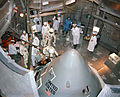 Apollo 1 crew prepare to enter their spacecraft in the altitude chamber at Kennedy Space Center.jpg