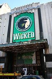 The Apollo Victoria Theatre, the home of Wicked in London