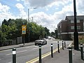 Approaching the roundabout at the junction of Bagshot and St Jude's Roads - geograph.org.uk - 1360519.jpg