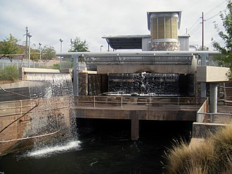 Arizona Canal - Arizona Falls, part of G.R. Herberger Park in Phoenix, Arizona.