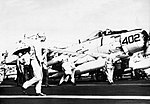 Armed Douglas A-1H Skyraider of VA-176 aboard USS Saratoga (CVA-60), in 1967.jpg