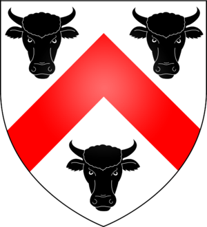 George Boleyn, 2nd Viscount Rochford - Arms of the Boleyn family of London, including Sirs Geoffrey, William and Thomas, great grandfather, grandfather and father of Anne Boleyn, respectively