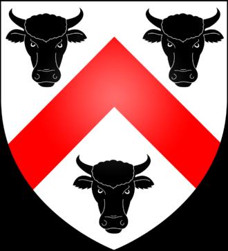 George Boleyn, 2nd Viscount Rochford - Arms of the Boleyn family of London, including Sirs Geoffrey, William and Thomas, great grandfather, grandfather and father of Anne Boleyn, respectively