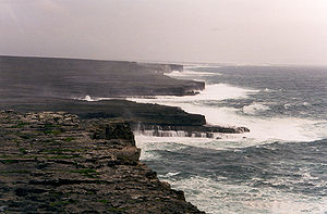 A wild coast on Inishmore, largest of the Aran...