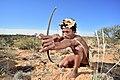 Arri Raats, Kalahari Khomani San Bushman, Boesmansrus camp, Northern Cape, South Africa (19919656433).jpg
