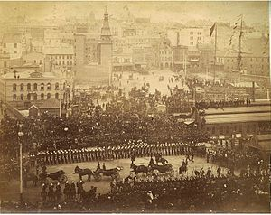 Robert Duff (politician, born 1835) - Arrival of Governor Sir Robert Duff, Circular Quay, Sydney, June 1893