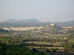 Lage der Stadt Artà