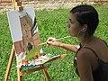 Artist in Lubart's Castle (Lutsk, Ukraine) (26101417143).jpg