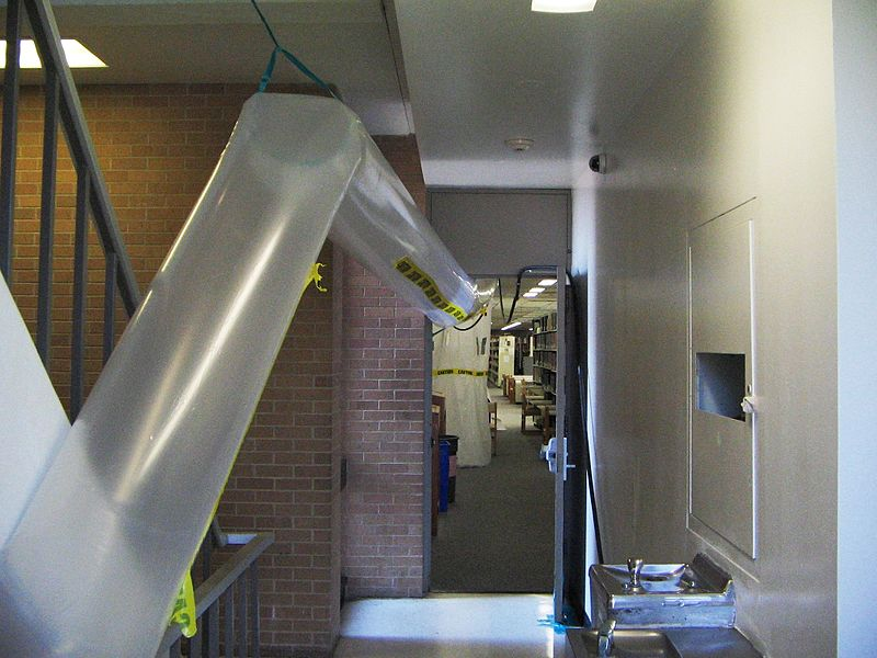 Asbestos Removal Duct : File asbestos abatement temporary air duct g wikimedia