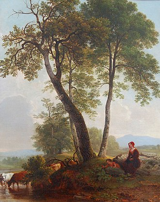 Hickory Museum of Art - Image: Asher Durand Pastoral Scene