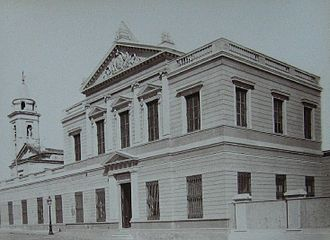 Centro Cultural Recoleta - The building in its incarnation as a shelter for the homeless, circa 1880.