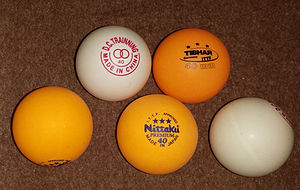 Table tennis - Assortment of 40 mm table tennis balls