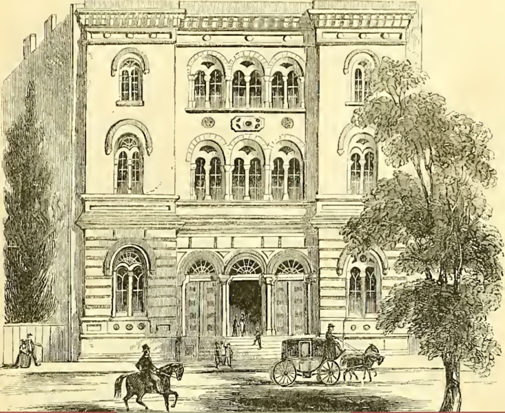 File:Astor Library Building, New York City, 1852.tiff