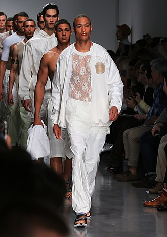 Model (person) - Male models at an Astrid Anderson fashion show
