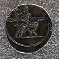 Augusto, denario con ottaviano togato e seduto.JPG