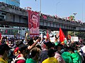 Aung San Suu Kyi Banner - Protestors at Hledan Junction Yangon.jpg