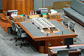 Australian House of Representatives centre desk, Hansard and dispatch boxes - Parliament of Australia.jpg