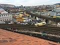Autobusové nádraží Florenc a Negrelliho viadukt pohled z půdy západního křídla Karlínských kasáren 2.jpg