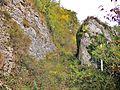 Autre vue du passage taillé pour le chemin nommé voie Romaine.jpg
