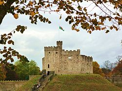 Autumnal cardiff castle