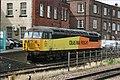 Awaiting next duty, a Colas Rail Freight Class 56 Co-Co locomotive - panoramio.jpg