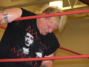 Professional wrestler Axel Rotton at an NCW sh...