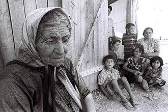 Refugees in Azerbaijan - Image: Azerbaijani refugees from Karabakh 24