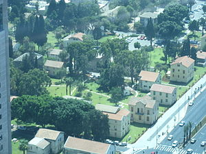 Kaplan Street - An aerial view of Sarona.