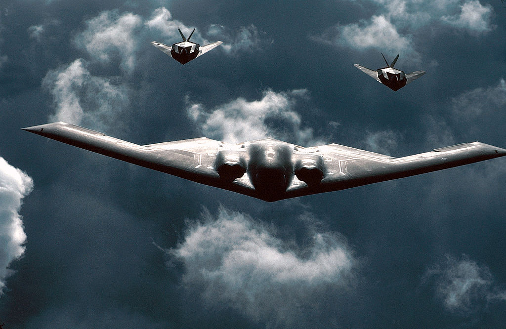 B-2 and F-117 Formation