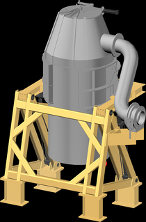 Bottom-blown oxygen converter