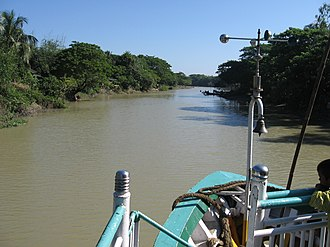 Kangsha River - View of the Kangsha River from a launch