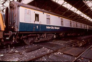 Taunton sleeping car fire - A British Railways Mark 1 sleeping car, similar to the one involved in the accident