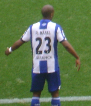 Ryan Babel - Ryan Babel playing for Deportivo de La Coruña.