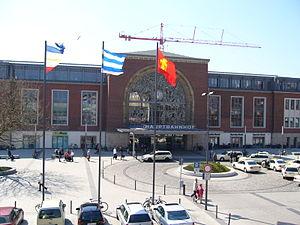 Kiel Hauptbahnhof - Main entrance on the north side