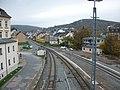 Bahnhof Aue (Sachs), Ausfahrt Richtung Schwarzenberg 2017 (1).jpg